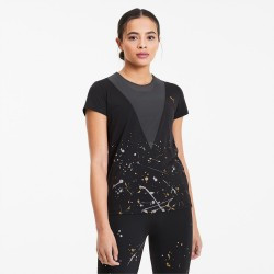 T-shirt PUMA da training da donna Metal Splash Deep art 519037