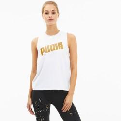 T-shirt PUMA Tank da training regolabile Metal Splash white art 519198 02