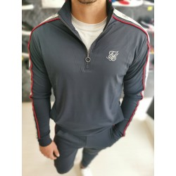 Felpa SIKSILK Athlete hybrid zip through hoodie SS15379